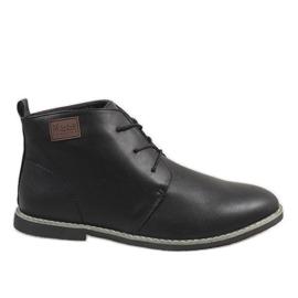 Fekete Muške cipele s crnom izolacijom 989-1