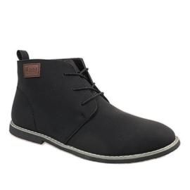 Fekete Muške cipele s crnom izolacijom 989-2