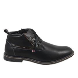 Fekete Muške cipele s crnom izolacijom 9W-BK86417