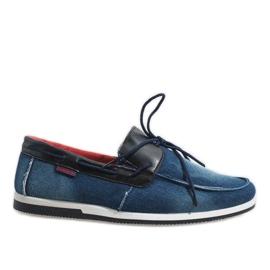 Haditengerészet Tamnoplave elegantne cipele s nokte AB108-1