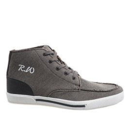 Smeđe elegantne visoke cipele F10455
