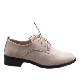 Bež jazz cipele s cipelama od antilop C-7183 smeđ