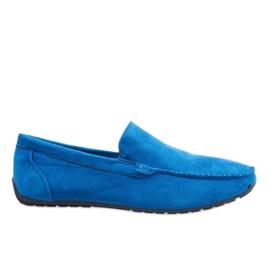 Plava Tamno plave elegantne cipele s krojicama AB07-6