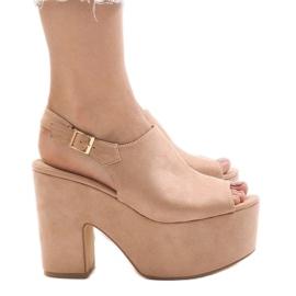 Roze Ružičaste sandale na masivnoj cigli od 8263CA