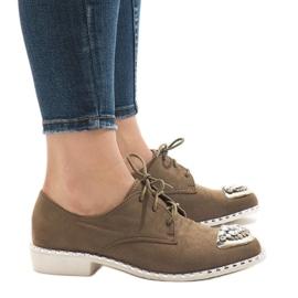 Zelene klizne cipele s L155 šljokicama