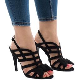 Crna Crne sandale s lukom 238-C5