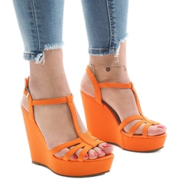 Narančaste sandale s petom A-8A narančasta