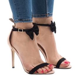 Ružičaste antilop sandale na visoku petu JZ-6334