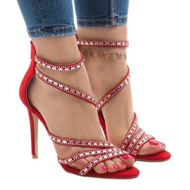 Crvene sandale na igle 9081-9 crvena