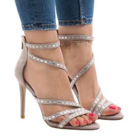 Sive sandale na petu 9081-9 smeđ