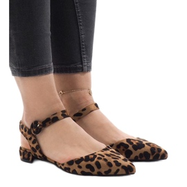Leopard print sandale balerinke 77-100