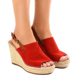 Crvena Klin crvene sandale s espadrilama KA-20