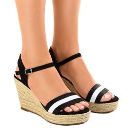 Crne espadrille sandale s klinom 9072 crna