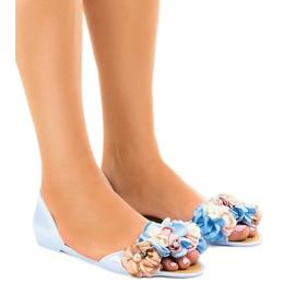 Plava Plave meliski sandale s AE20 cvijećem
