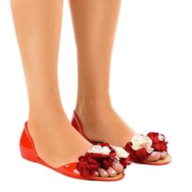 Crvene meliske sandale s AE20 cvijećem crvena
