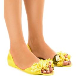 Žuti Žute meliske sandale s AE20 cvjetovima