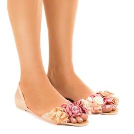 Smeđ Bež meliski sandale s AE20 cvijećem