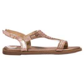Super Mode roze Ležerne sandale s cirkonima