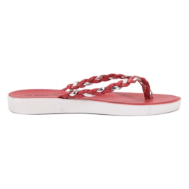 Seastar Crvene tkane papuče crvena