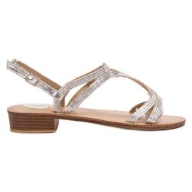 SHELOVET Sandale u potpeticama siva