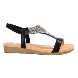 Top Shoes Moderan crne sandale crna