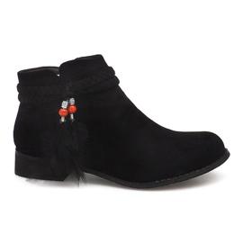 Suede čizme Jodhpur čizme H1911 crne crna