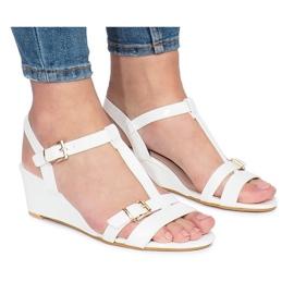 Fehér Bijele lakirane cipele s petom na klinovima
