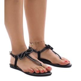 Fekete Crna sandala s šljokicama CX0707