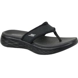 Fekete Flip-flops Skechers na putu 600 W 15300-BBK