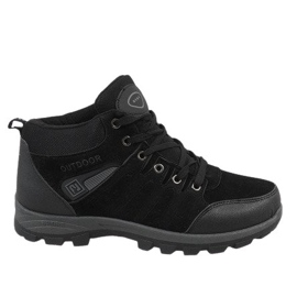 Fekete Čizme za snijeg s crnom izolacijom KFT001