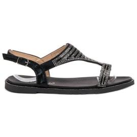 Super Mode crna Moderan crne sandale