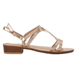 SHELOVET Sandale u potpeticama žuti