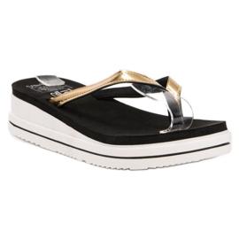 SHELOVET fekete A flip-flop Wedge Heels