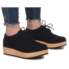 Fekete Crne cipele na platformi Danielle