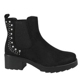 Kayla Shoes Crna izolirana visokim potpeticama 88048