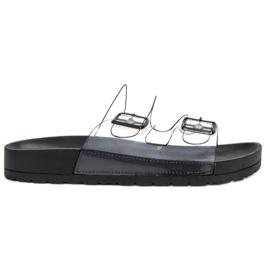 Ideal Shoes fekete Prozirni preklopi Se kopča