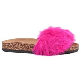 Bona rózsaszín Papucs szőrme