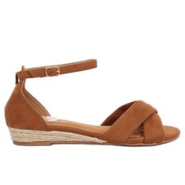 Sandale espadrilles smeđe 9R121 Camel