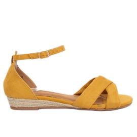 Sandale espadrila žute 9R121 Žute žuti