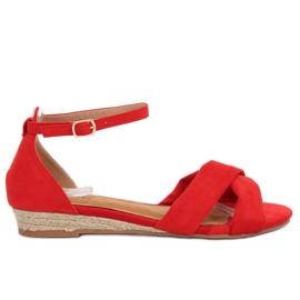 Sandale espadrilles crvene 9R121 Crvena