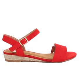 Sandale espadrilles crvene 9R73 Crvena