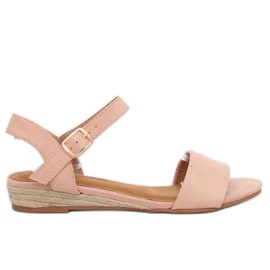 Sandale espadrilles roze 9R73 Pink