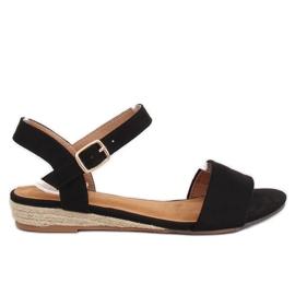 Sandale espadrilles crne 9R73 crne crna