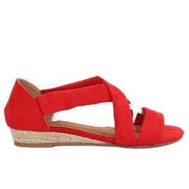 Sandale espadrilles crvene 9R72 Crvena