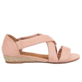 Sandale espadrilles roze 9R72 Pink