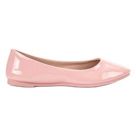 SHELOVET rózsaszín Lakkozott balerina