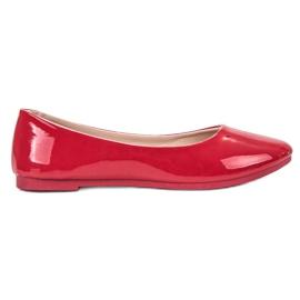 SHELOVET piros Lakkozott balerina