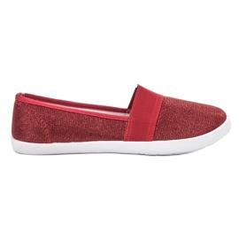 Renda piros Brokád cipők