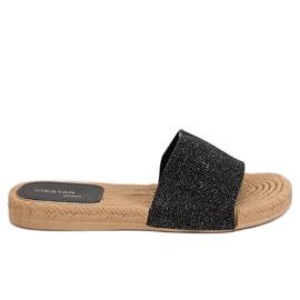 Ženske crne papuče JFF-V182 Black