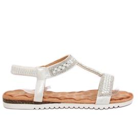 Siva Sandale ženske srebrne HT-67 Silver